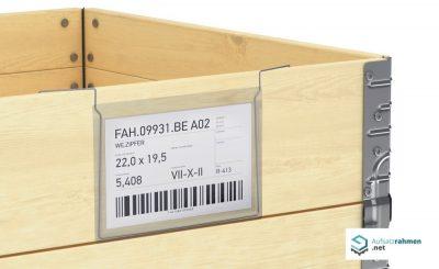 Dokumentenhalter transparent zum Einhaengen ueber Holzaufsatzrahmen