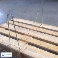 Palettenwinkel zur Sicherung gefalteter Holzaufsatzrahmen