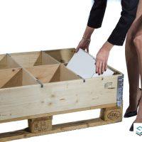 Kompletter Satz Laengs- und Querteiler fuer Holzaufsatzrahmen