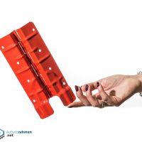 Scharniere für Aufsatzrahmen 200mm rot